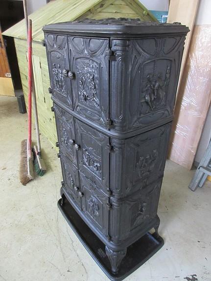 haas sohn carina dauerbrandofen mit w rmefach neuwertig. Black Bedroom Furniture Sets. Home Design Ideas