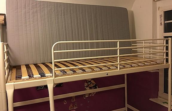 Ikea Etagenbett Weiß Metall : Metall hochbett schnes svrta ikea bett dunkelgrau
