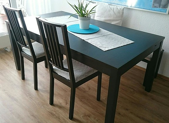 Ikea Bjursta Tisch Schwarzbraun 175cm Hoorkcom