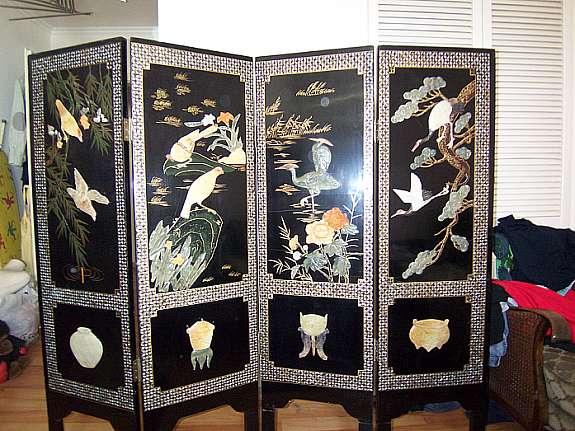 original chinesischer paravent. Black Bedroom Furniture Sets. Home Design Ideas