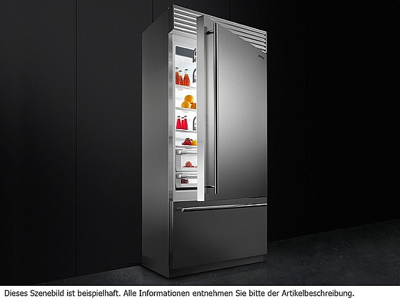Smeg Kühlschrank Gefrierkombi : Smeg rf rsix stand kühl gefrier kombination edelstahl