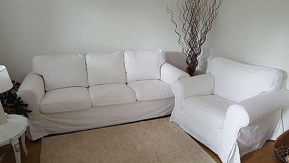 Ektorp 3er Sofa Und Sessel Weiss In Top Zustand Ikea Hoork Com