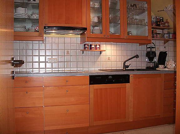 Gepflegte küche ikea faktum buche spülmaschine hoork
