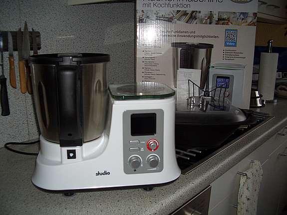 aldi studio kchenmaschine mit kochfunktion neuwertig nur 45 mal benutzt mit kaufbeleg 8102015 garantie 3 jahre gebrauchsanweisung rezeptheft und
