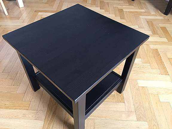 Ikea Hemnes Beistelltisch Schwarzbraun In Gutem Zustand Hoorkcom