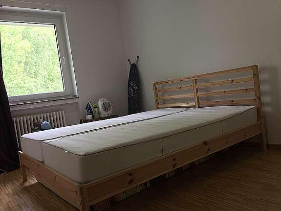 Ikea Tarva 160 200 Bett Mit Sultan Finnvik Mattress Hoork Com