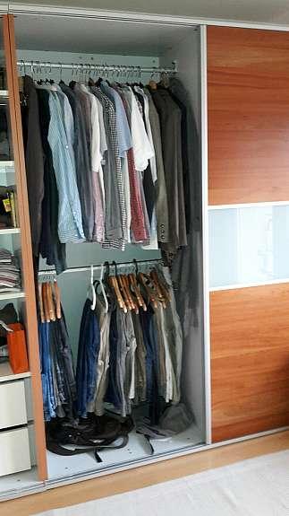 2 hochwertige Kleiderschränke Kirsch/Satiniertes Glas - hoork.com