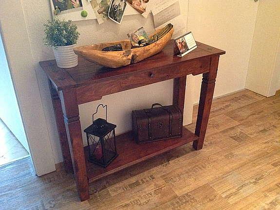 Original Konsolentisch Cuba Danisches Bettenlager Sheesham Holz 1