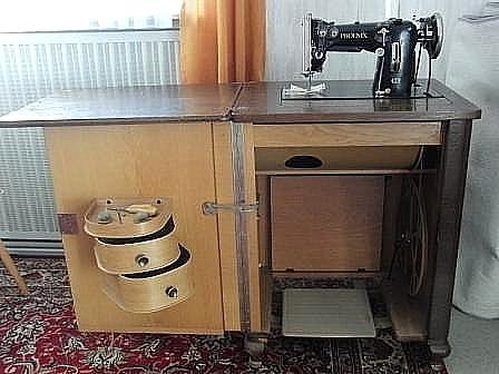 Alte Umbau Nähmaschine Im Schrank Von 1953 Original Phoenix Siehe