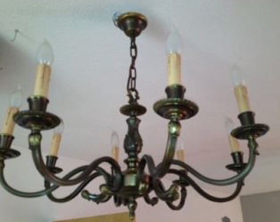 Kronleuchter Mit Glasbehang ~ Bronze messing kronleuchter lüster leuchter deckenleuchter lampe