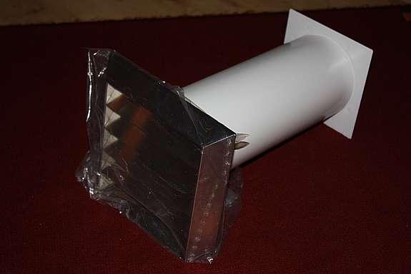 Edelstahl mauerkasten 125mm für wanddurchbruch dunstabzugshaube 1