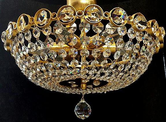 Plafoniere Kristall : Kristall kronleuchter lÜster plafoniere palwa bleikristall gold