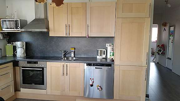 Ikea Faktum Küche mit Ädel birke Fronten - hoork.com