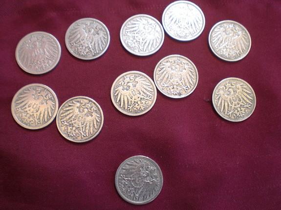 10 Münzen Deutsches Reich 10 Pfennig Hoorkcom