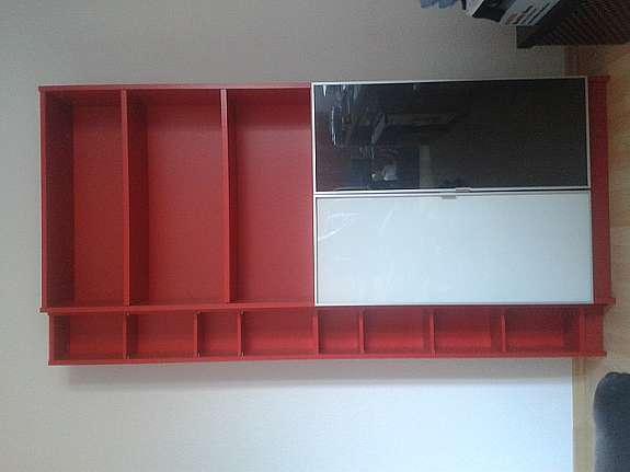 Billy Regal Schrank Kommode Ikea Rot Mit Seperatem Cd Regal 1
