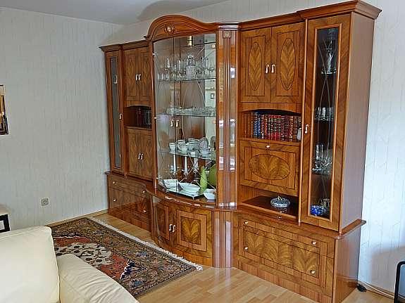 Wohnzimmer Schrankwand + Sideboards In Nussbaum 1