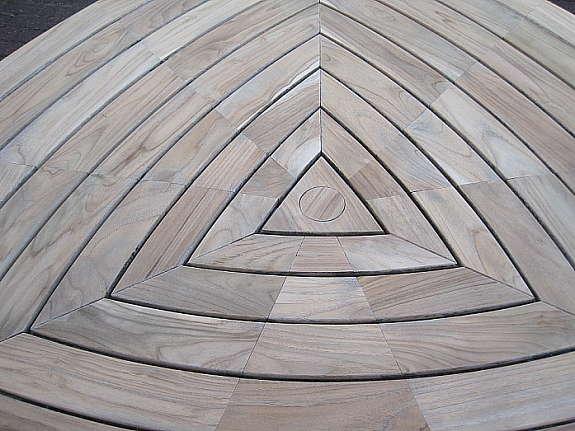Triangel-Tisch von Hartmann, Teak, Kantenlänge: 1,70 cm