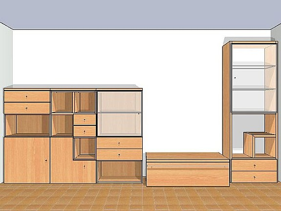 Hülsta now! Time Highboard Anrichte Wohnzimmerschrank Buche - hoork.com