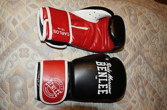 schwarz-rot BENLEE Boxhandschuhe Carlos