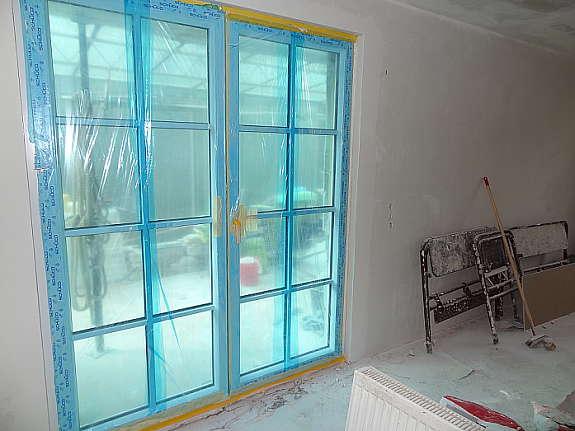 wundersch ne fl gel terrassent r in wei mit sprossen. Black Bedroom Furniture Sets. Home Design Ideas