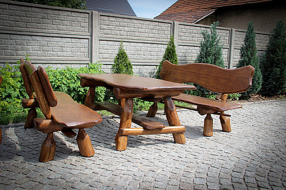 Sitzgruppe Gartenmobel Massivholz Terrassenmobelsitzgarnitur Pappel