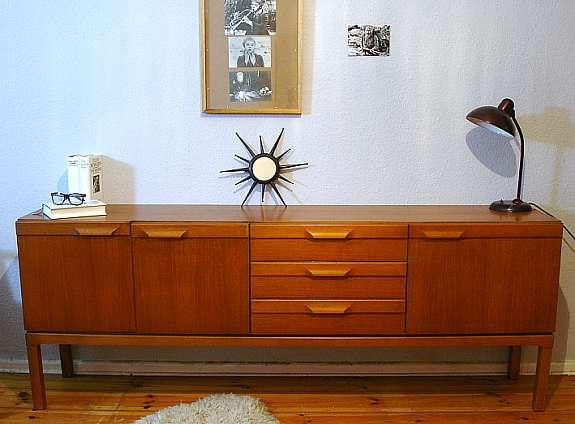 Midcentury Teak Sideboard 60er 70er Vintage Kommode Danish Design