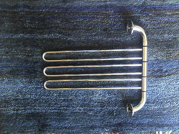 Handtuchhalter 3 armig Metall verchromt hoork