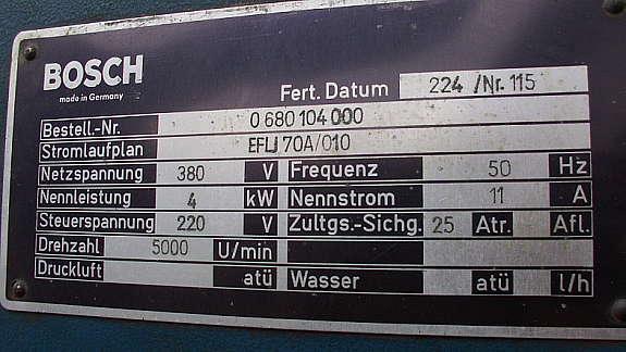 Bosch Kühlschrank Schaltplan : Lichtmaschinenprüstand bosch hoork.com