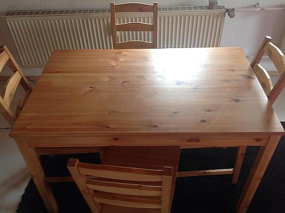 IKEA Tisch Und 4 Stühle Bambus Hoork