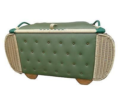 Wäschetruhe er jahre retro original wie stubenwagen grün sehr