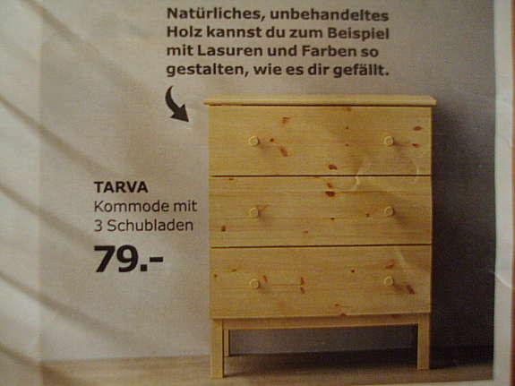 Ikea Tarva Kommode Weichholz Massiv Neu Leider Fehlkauf Np 79eur