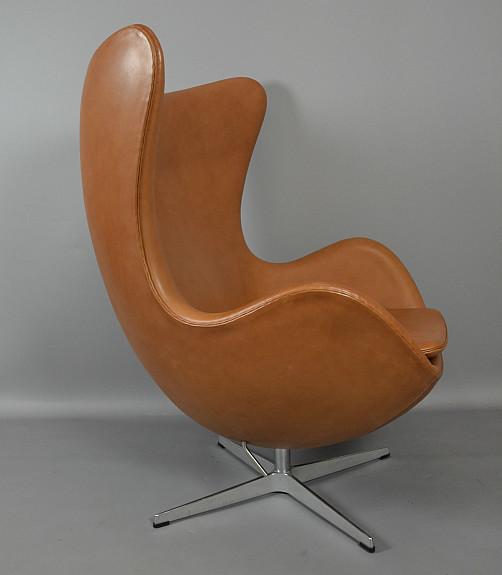 Arne Jacobsen Egg Chair Für Fritz Hansen In Cognac Leder 2011