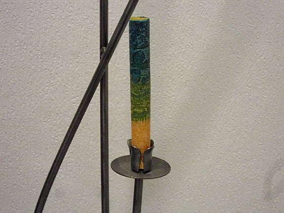 Kerzenleuchter kerzenhalter versilbert silber patina stempel