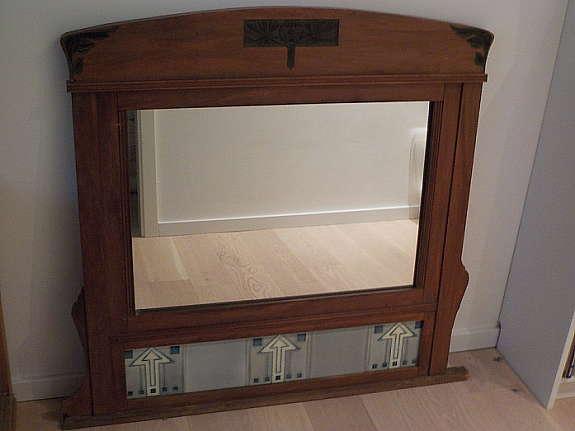 Art Deco Spiegel : Original antiker jugendstil art deco spiegel wandspiegel