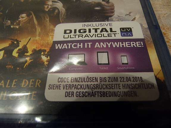Blue Ray Dvd Der Hobbit Die Schlacht Der Fünf Heere Bzw Herr Der