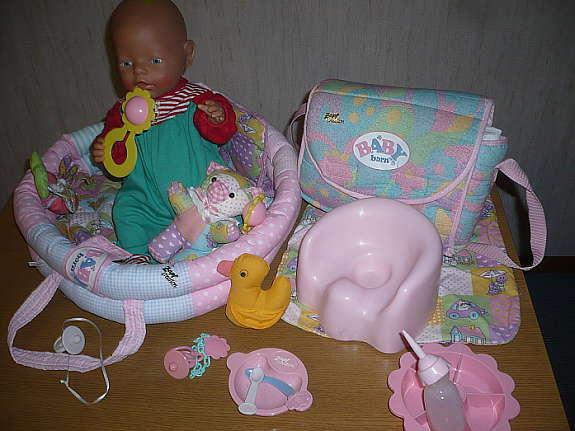Baby Born Puppe Zapf Creation Mit Viel Zubehor Hoork Com