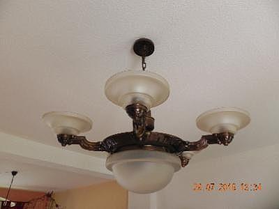 Kronleuchter Antik Bronze ~ Antike sehr schöne messing bronze wohnzimmerlampe kronleuchter