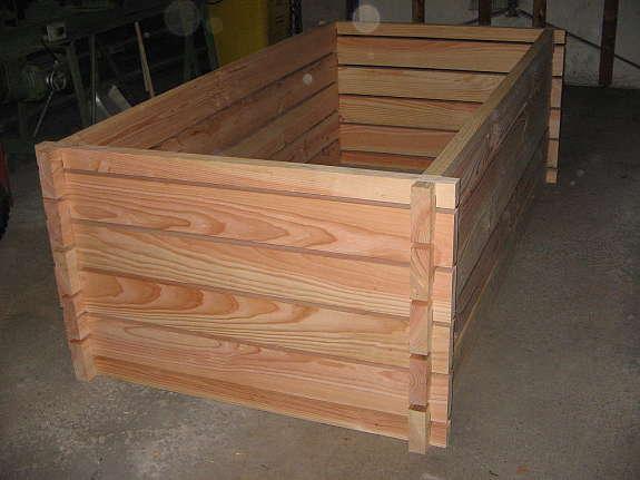 Hochbeet Holz Douglasie Komposter Fruhbeet Larche Hoork Com